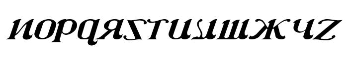 CSAR  Italic Font LOWERCASE