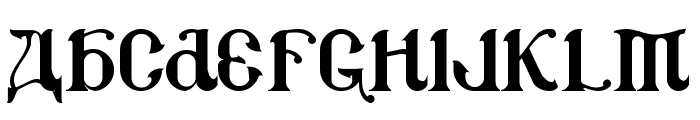 CSAR Font UPPERCASE