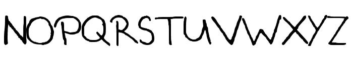 Csenge Handwriting Regular Font UPPERCASE
