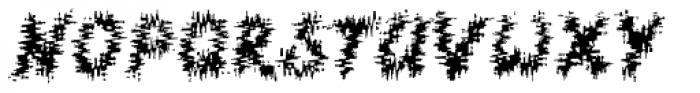CS Fuzzy Logic D Font LOWERCASE