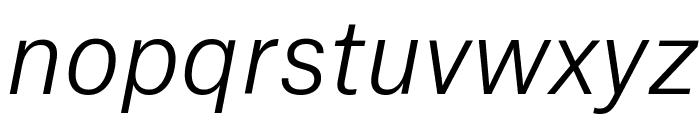 AtlasGrotesk LightItalic Reduced Font LOWERCASE
