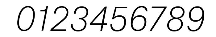 AtlasGrotesk ThinItalic Reduced Font OTHER CHARS