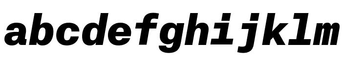 AtlasTypewriter BlackItalic Reduced Font LOWERCASE