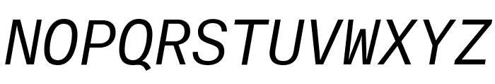 AtlasTypewriter RegularItalic Reduced Font UPPERCASE