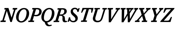 CaponiSlab MediumItalic Reduced Font UPPERCASE