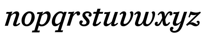 CaponiSlab MediumItalic Reduced Font LOWERCASE