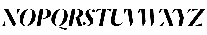DalaMoa MediumItalic Reduced Font UPPERCASE