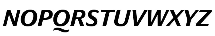 DarbySans MediumItalic Reduced Font UPPERCASE