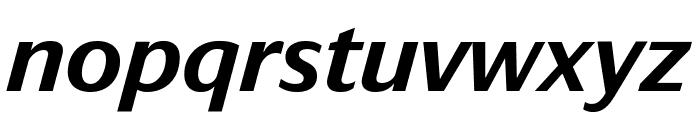 DarbySans MediumItalic Reduced Font LOWERCASE
