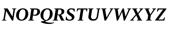 Dignitas BoldItalic Reduced Font UPPERCASE