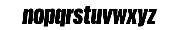 GiorgioSans BlackItalic Reduced Font LOWERCASE