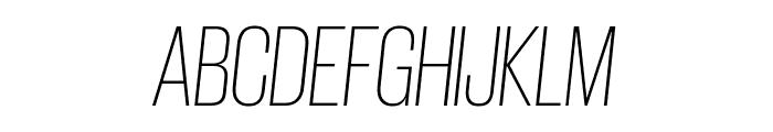 GiorgioSans ExtralightItalic Reduced Font UPPERCASE