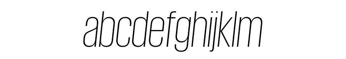 GiorgioSans ExtralightItalic Reduced Font LOWERCASE