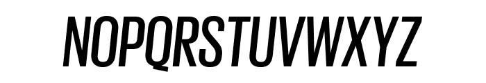 GiorgioSans MediumItalic Reduced Font UPPERCASE