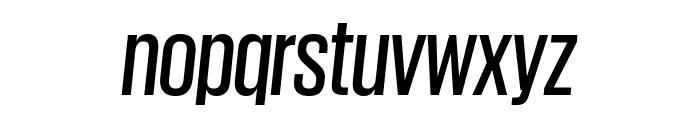 GiorgioSans MediumItalic Reduced Font LOWERCASE