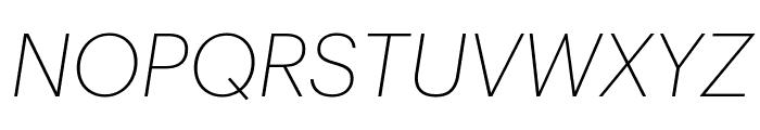 Graphik ExtralightItalic Reduced Font UPPERCASE