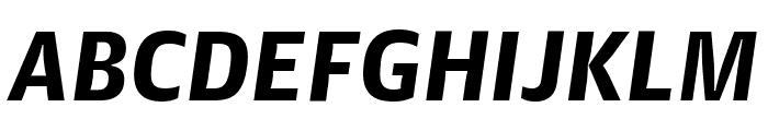 GuardianAgateSans BlackItalic Reduced Font UPPERCASE