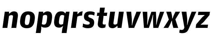 GuardianAgateSans BlackItalic Reduced Font LOWERCASE