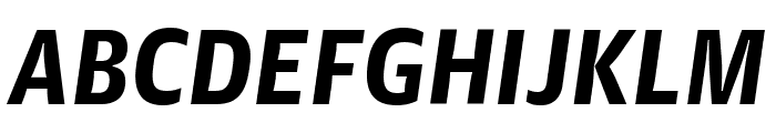 GuardianAgateSans DuplexBlackItalic Reduced Font UPPERCASE