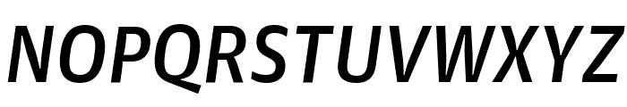GuardianAgateSans DuplexMediumItalic Reduced Font UPPERCASE