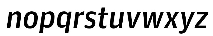 GuardianAgateSans DuplexMediumItalic Reduced Font LOWERCASE