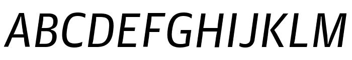 GuardianAgateSans G1RegularItalic Reduced Font UPPERCASE