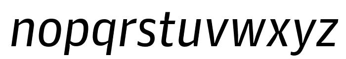 GuardianAgateSans G1RegularItalic Reduced Font LOWERCASE