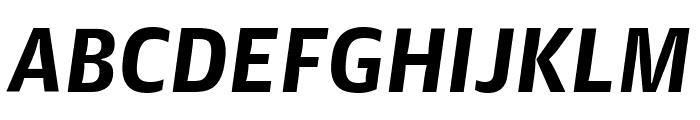 GuardianAgateSans G3BoldItalic Reduced Font UPPERCASE