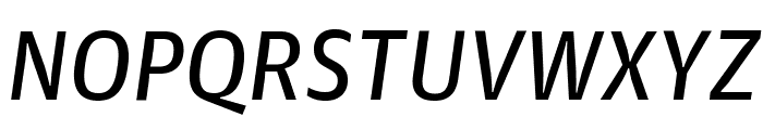 GuardianAgateSans G3RegularItalic Reduced Font UPPERCASE