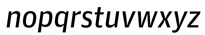 GuardianAgateSans G3RegularItalic Reduced Font LOWERCASE