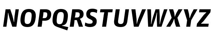 GuardianAgateSans G4BoldItalic Reduced Font UPPERCASE