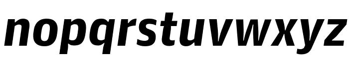 GuardianAgateSans G4BoldItalic Reduced Font LOWERCASE