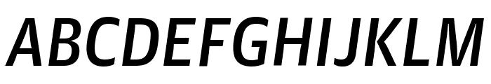 GuardianAgateSans MediumItalic Reduced Font UPPERCASE