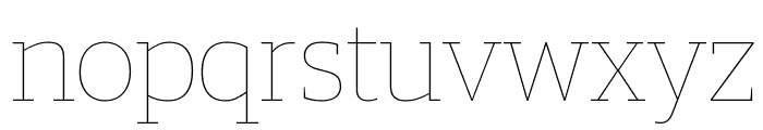 GuardianEgyp Hairline Reduced Font LOWERCASE
