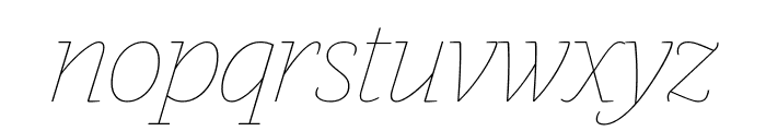 GuardianEgyp HairlineIt Reduced Font LOWERCASE