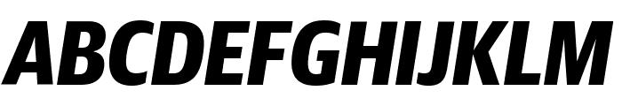 GuardianSansCond BoldIt Reduced Font UPPERCASE
