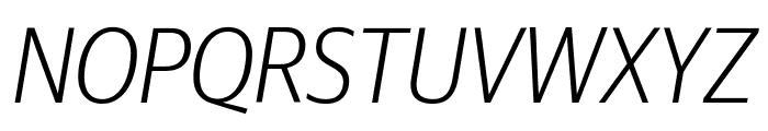 GuardianSansNarrow LightIt Reduced Font UPPERCASE