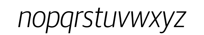 GuardianSansNarrow LightIt Reduced Font LOWERCASE