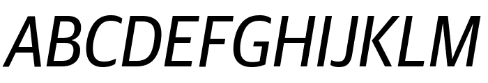 GuardianSansNarrow RegularIt Reduced Font UPPERCASE