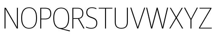 GuardianSansNarrow Thin Reduced Font UPPERCASE