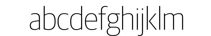 GuardianSansNarrow Thin Reduced Font LOWERCASE