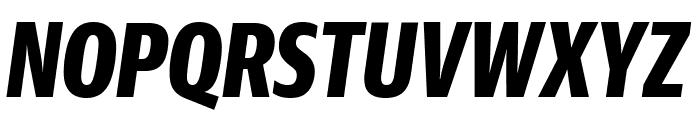 GuardianSansXCond BoldIt Reduced Font UPPERCASE