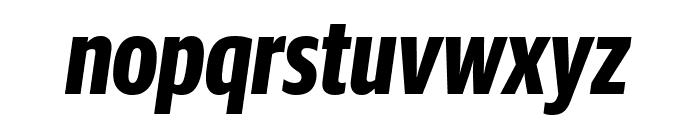 GuardianSansXCond BoldIt Reduced Font LOWERCASE