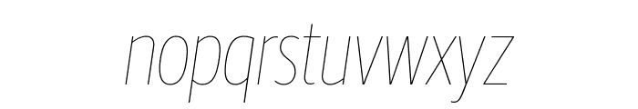 GuardianSansXCond HairlineIt Reduced Font LOWERCASE