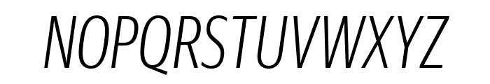 GuardianSansXCond LightIt Reduced Font UPPERCASE