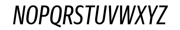 GuardianSansXCond RegularIt Reduced Font UPPERCASE