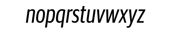 GuardianSansXCond RegularIt Reduced Font LOWERCASE