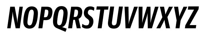 GuardianSansXCond SemiboldIt Reduced Font UPPERCASE