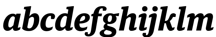 GuardianTextEgyp BoldIt Reduced Font LOWERCASE