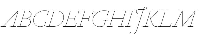 Marian1554 Italic Reduced Font UPPERCASE